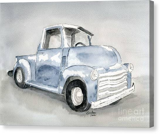 Old Pick Up Truck Canvas Print