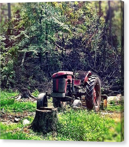 Tractors Canvas Print - Old Red Is Resting by Ben Sharpe