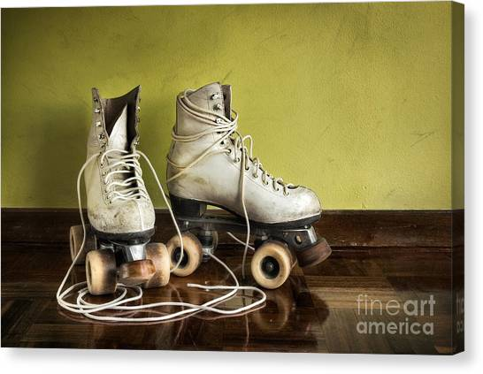 Roller Skating Canvas Print - Old Roller-skates by Carlos Caetano
