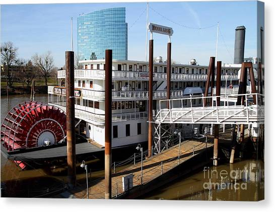 Sacramento Kings Canvas Print - Old Sacramento California . Delta King Hotel . Paddle Wheel Steam Boat . 7d11525 by Wingsdomain Art and Photography