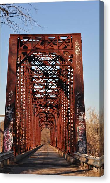 Old Sante Fe Bridge Canvas Print