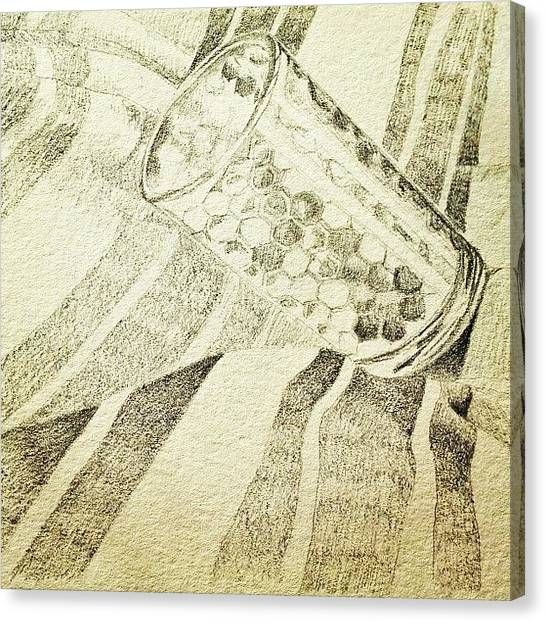 Pencils Canvas Print - Old Sketches by Lisa Catherwood