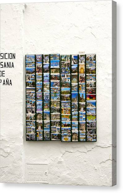 Old Spanish Postcards In Spanish Village Canvas Print by Perry Van Munster