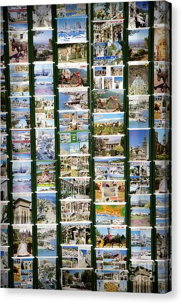 Old Spanish Postcards1 Canvas Print by Perry Van Munster