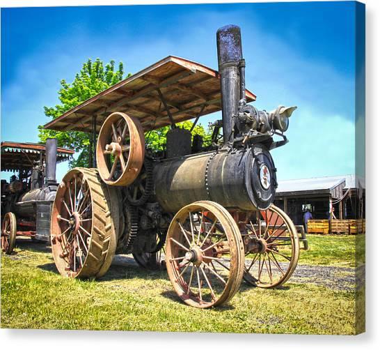 Caterpillers Canvas Print - Old Steam Engine by Steve McKinzie