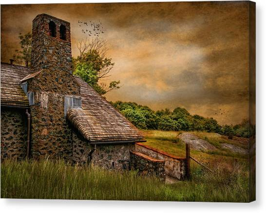 Old Stone Countryside Canvas Print by Robin-Lee Vieira