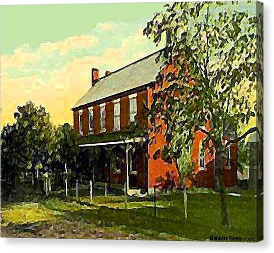 Old Tavern In Scenery Hill Pa Canvas Print by Dwight Goss