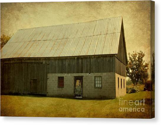 Old Textured Barn Canvas Print by Sophie Vigneault