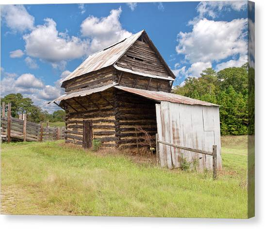 Old Tobacco Barn Canvas Print