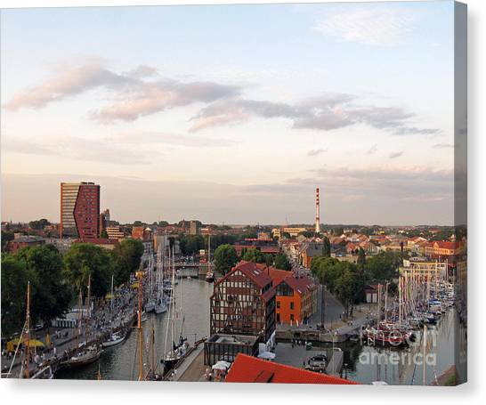 Old Town Klaipeda. Lithuania. Canvas Print