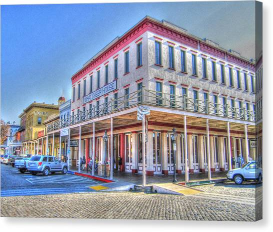 Old Towne Sacramento Canvas Print by Barry Jones