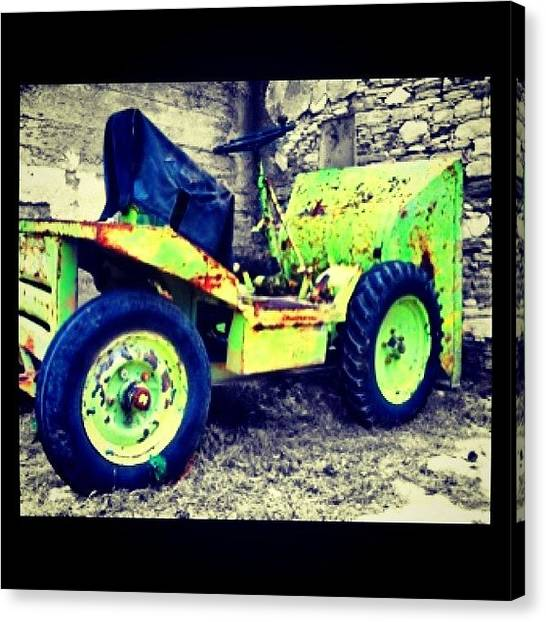 Tractors Canvas Print - #old #tractor #colorsplash by Stacy Stylianou