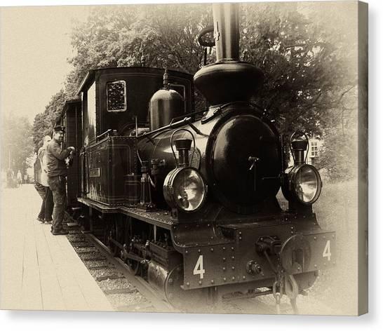 American Steel Canvas Print - Old Train Sweden by Stelios Kleanthous
