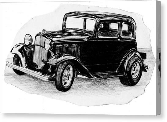 Old Vintage Funny Car Canvas Print