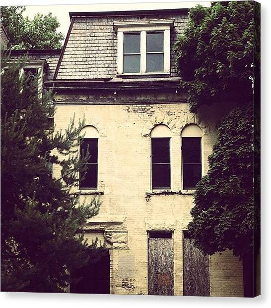 Shapes Canvas Print - #old #vintage #retro #house #boardedup by Jenna Luehrsen
