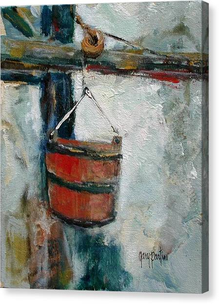 Old Well Bucket Canvas Print
