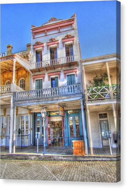 Old West Architecture Canvas Print by Barry Jones