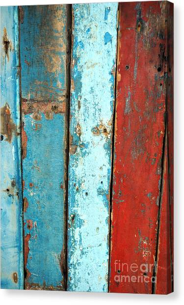 Old Wooden Background Canvas Print by Antoni Halim