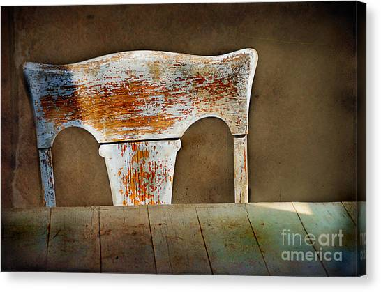 Old Wooden Chair Canvas Print