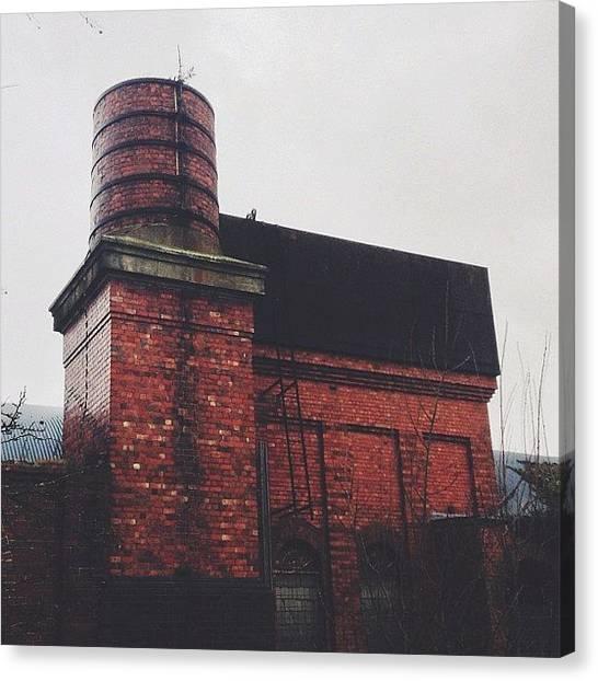 Factories Canvas Print - #oldbuilding #old #rain #architecture by Marcin Michalski
