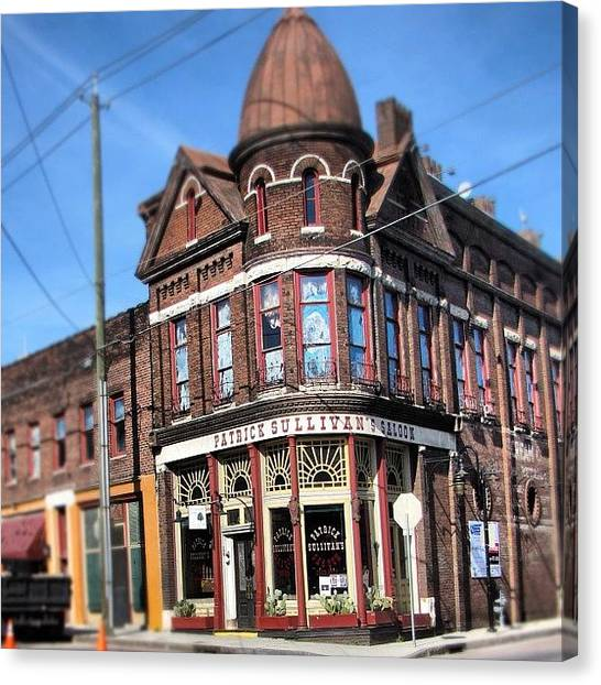 Pub Canvas Print - #oldcity #knoxville #tennessee by S Smithee