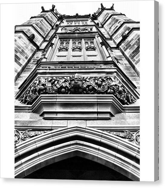 Saints Canvas Print - Olde Skyscraper #iphoneography by Kendall Saint