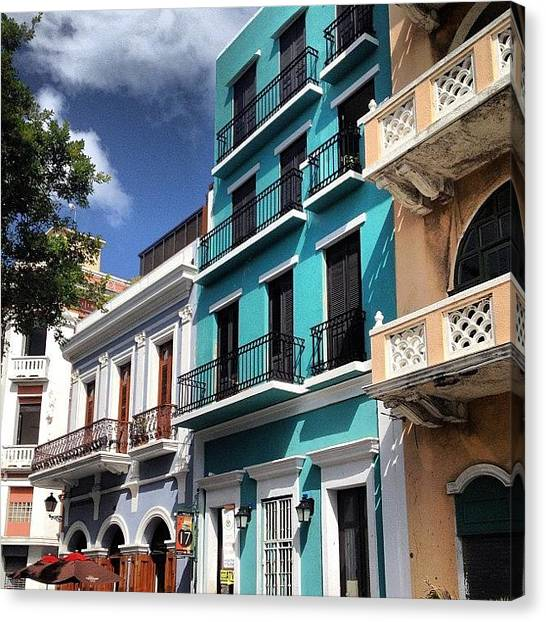 Turquoise Canvas Print - #oldsanjuan #puertorico #spanish by Kyle Kazoo