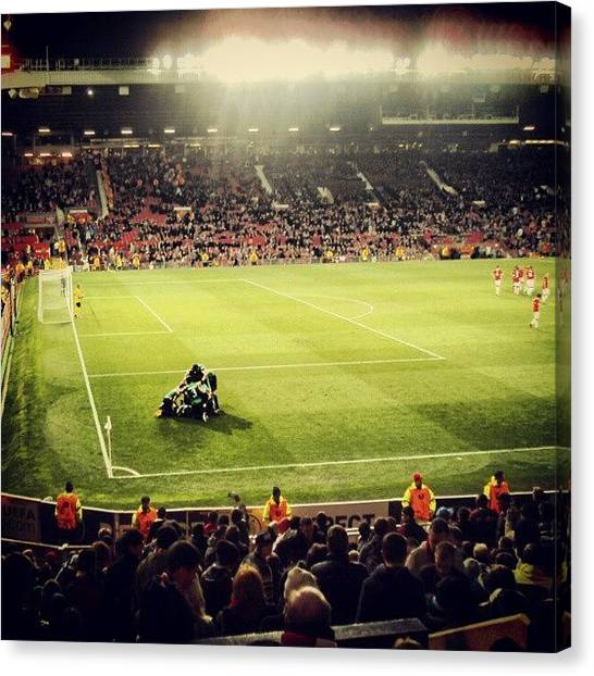 Sports Canvas Print - #oldtrafford #manchesterunited by Abdelrahman Alawwad