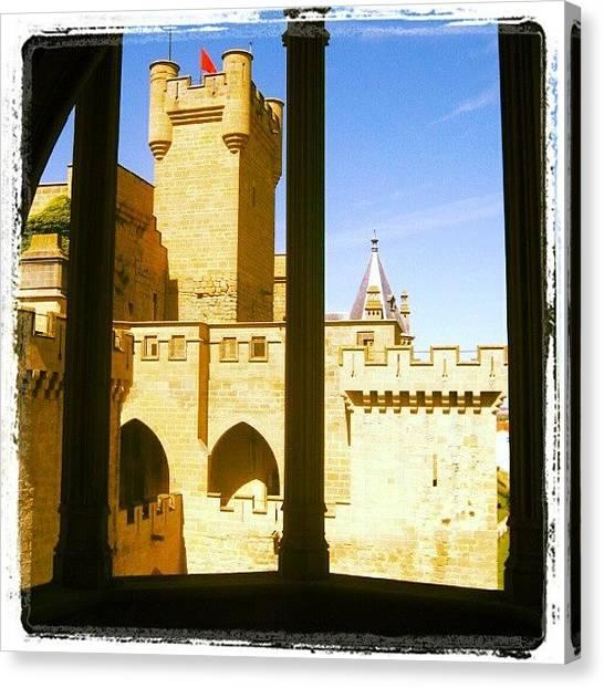 Medieval Art Canvas Print - Olite, Navarra by J R
