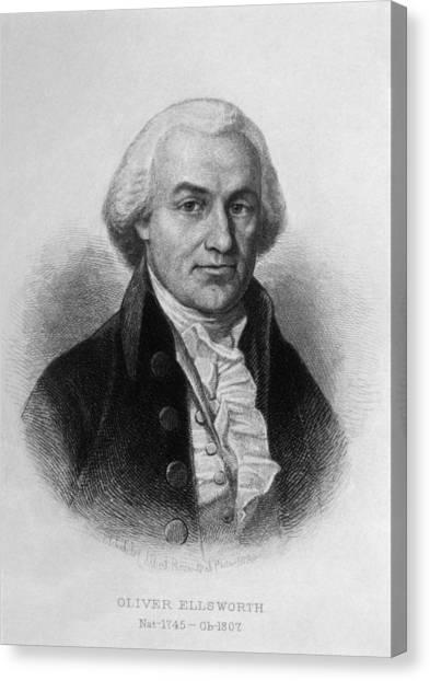 Oliver Ellsworth 1745-1807, U.s Canvas Print by Everett
