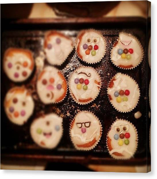 London2012 Canvas Print - Olympic Cupcakes #london2012 by Gary West