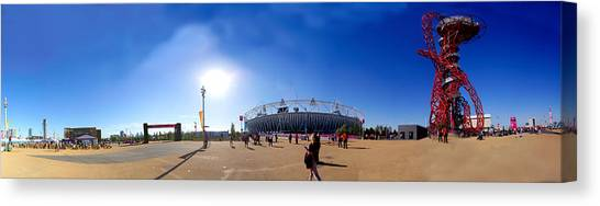 Olympic Park  Canvas Print by Keith Sutton