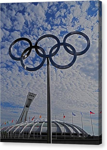 Olympic Stadium Montreal Canvas Print