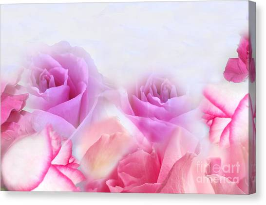 On A Bed Of Roses Canvas Print