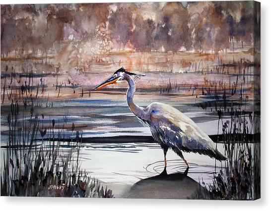 On Blue Bayou  Canvas Print