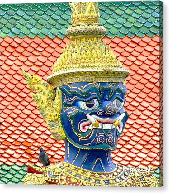 Travel Canvas Print - On Guard.. #thailand #travel by A Rey