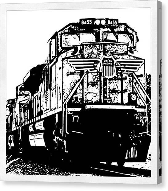 Transportation Canvas Print - On Iron Backbone II by James Granberry
