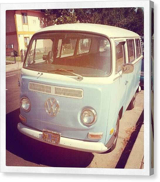Vw Bus Canvas Print - On My Mourning Stroll 4 A Dutch #vw by Jose Perez
