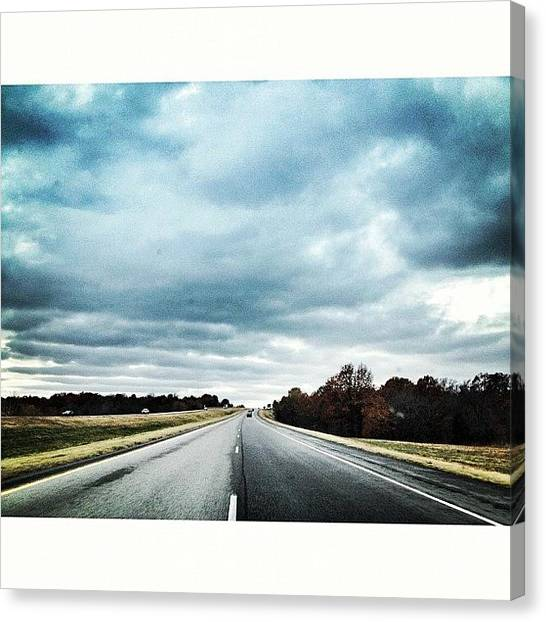Oklahoma Canvas Print - On My Way Back Home And Enjoying All by Jessica Polasek