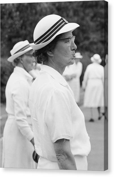 On The Bowling Green Canvas Print by John Drysdale