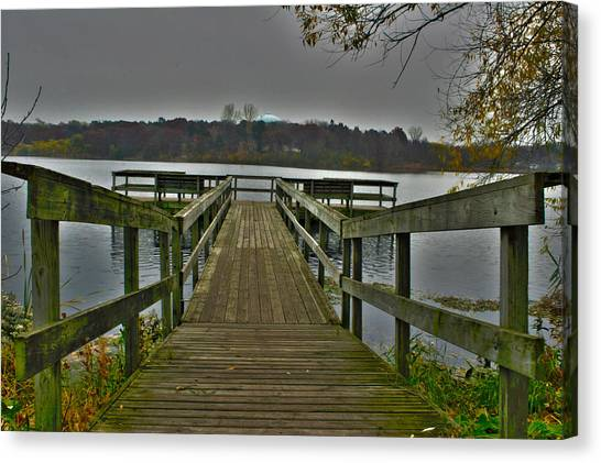 On The Dock Canvas Print
