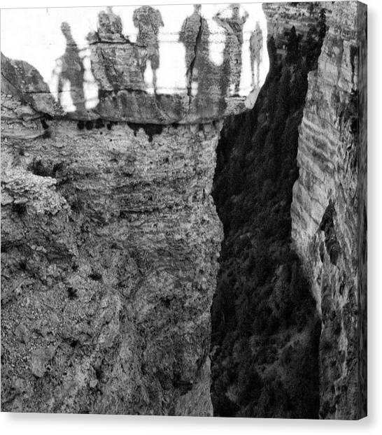 Grand Canyon Canvas Print - On The Edge by Demet Peralta