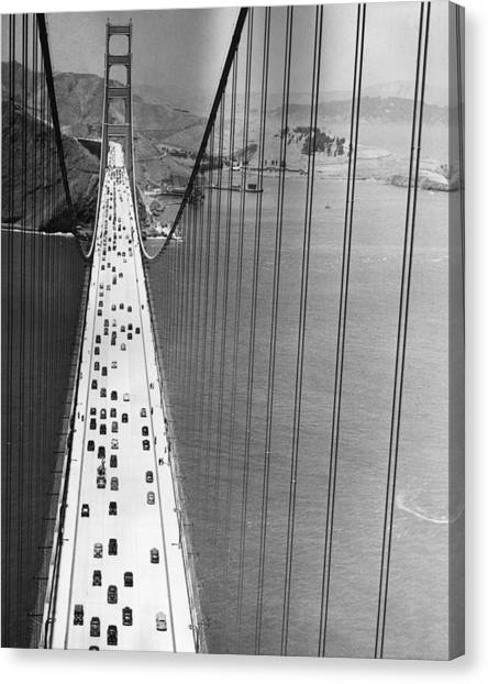 On The Golden Gate Canvas Print by Archive Photos