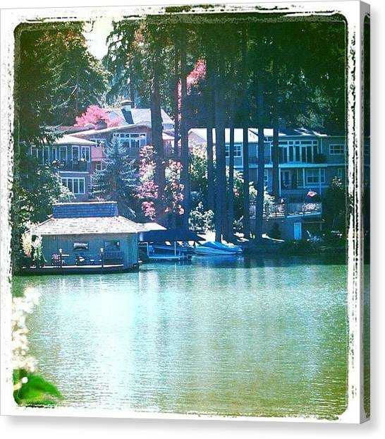 Apple Tree Canvas Print - On The Lake - Lake Oswego Or by Anna Porter