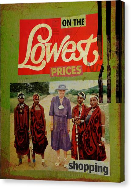On The Lowest Prices Shopping Canvas Print by Adam Kissel
