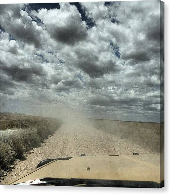 Dirt Road Canvas Print - On The Open #road In The #serengeti by Crystal Peterson