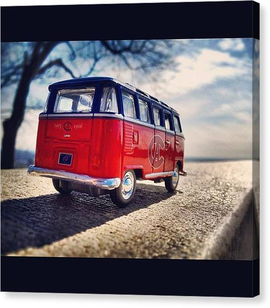 Vw Bus Canvas Print - On The Road... #vw #vwbus #bus #habs by Tobrook Eric gagnon