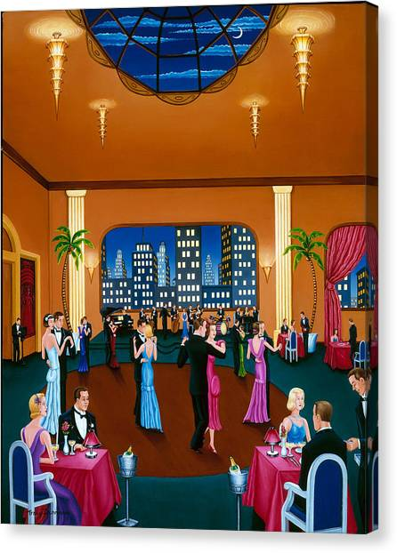 On The Town Canvas Print