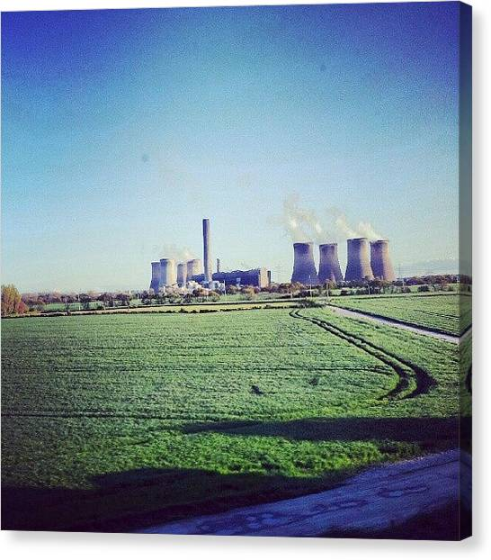 Factories Canvas Print - On The Way To #liverpool #green by Abdelrahman Alawwad