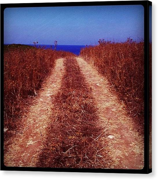 Greece Canvas Print - On The Way To Nowhere by Seras S